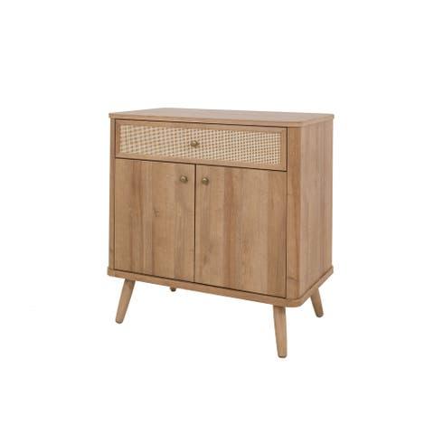 Thelma KD Rattan Small Cabinet 1 Drawer 2 Doors
