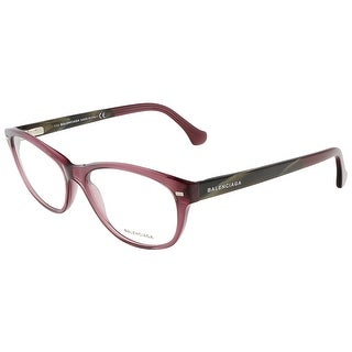 Balenciaga BA5021/V 081 Crystal Shiny Violet/Brown Horn Oval Opticals