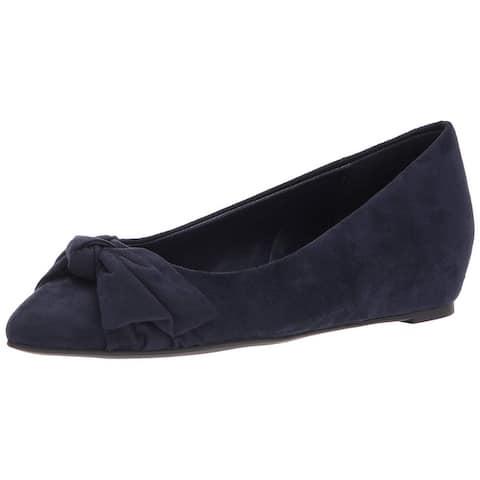 Bandolino Womens Ressie Pointed Toe Slide Flats