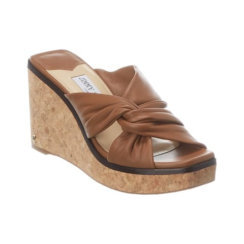 Jimmy Choo Narisa Leather Platform Wedge Sandal
