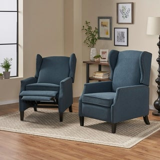 Link to Wescott Contemporary Fabric Recliner (Set of 2) by Christopher Knight Home Similar Items in Living Room Furniture