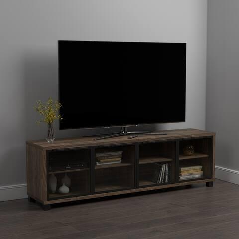 Carbon Loft Aegeus Aged Walnut 4-door TV Console