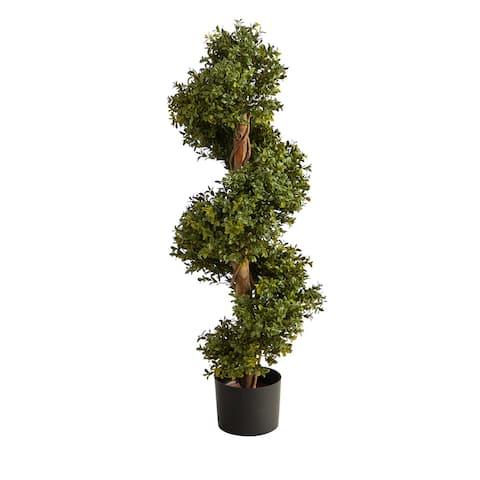 "33"" Boxwood Topiary Spiral Artificial Tree (Indoor/Outdoor) - 6"""
