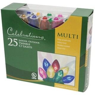 Sienna B42UC212 Twinkle C7 Light Set, 24', Multi Color