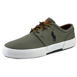 Polo Ralph Lauren Faxon Low Men  Round Toe Canvas Gray Fashion Sneakers