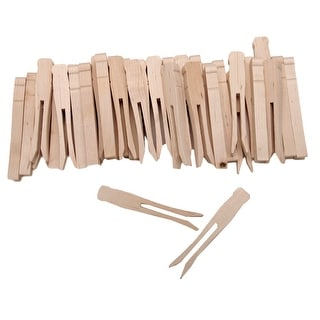 "Woodsies No-Roll Clothespins-Natural 3.75"" 40/Pkg"