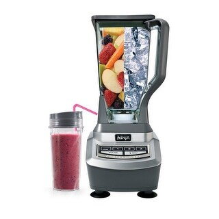 Ninja BL740 Professional Blender with Single Serve (Certified Refurbished) - Gray