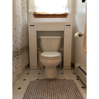 . Over The Toilet Space Saver by Simple Living  1 Center Cabinet and 2
