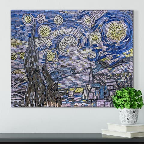 Vincent Van Gogh's Starry Night Glass Mosaic