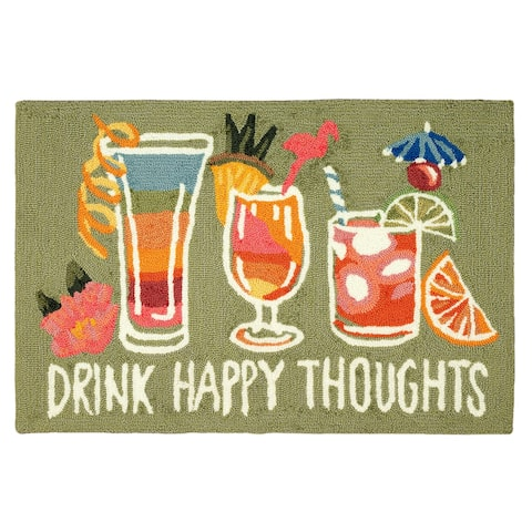Liora Manne Frontporch Happy Drinks Indoor/Outdoor Rug