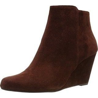Jessica Simpson Womens Remixx Ankle Boots Suede Pointed Toe - 6.5 medium (b,m)