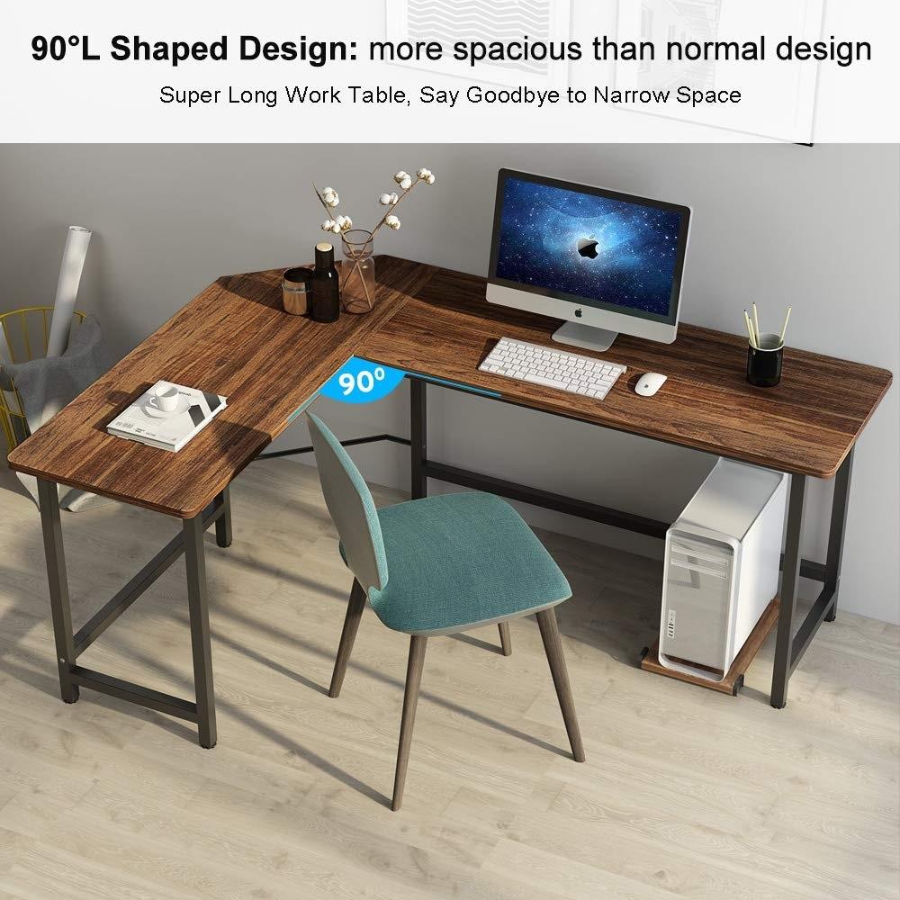 Tribesigns Modern L-Shaped Desk Corner Computer Desk Study Home Office