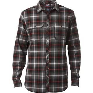 Fox Racing Men's Rivet Long Sleeve Tech Flannel - 18369 - Black