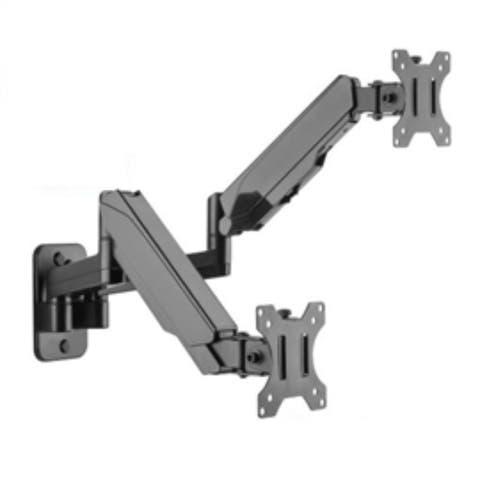 SIIG Accessory CE-MT2M12-S1 Premium Aluminum Gas Spring Wall Mount Dual Monitor Retail