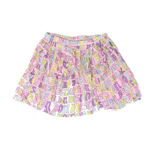 Moschino Girls Skirts Pink Blue Size 10 Bon-Moschino Graphic-Printed