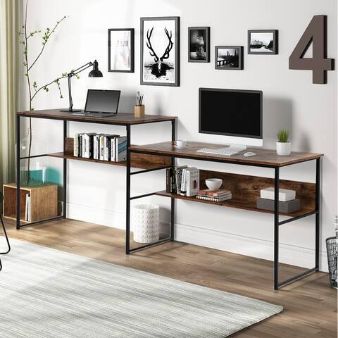 Moda Double Workstation Office Desk Writing Study Desk