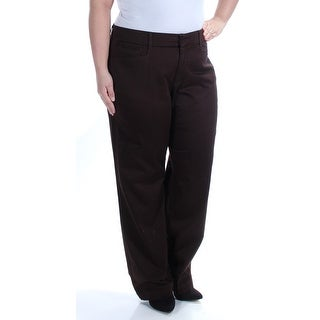 JM COLLECTION Womens New 1032 Brown Wear To Work Pants 12 B+B