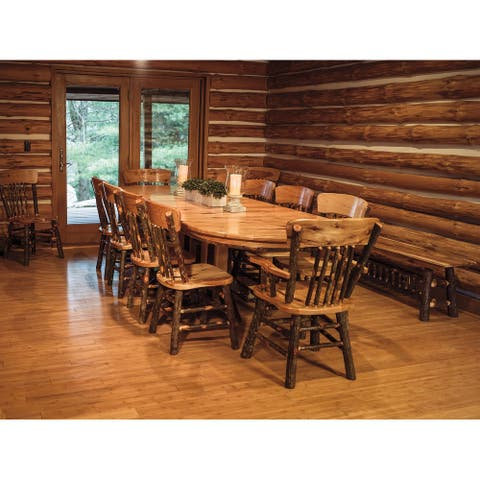Hickory Log Double Pedestal Table