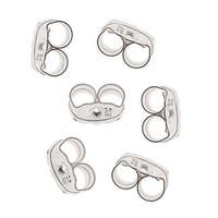 Sterling Silver Earring Backs (Earnuts) Fine 4mm (12)