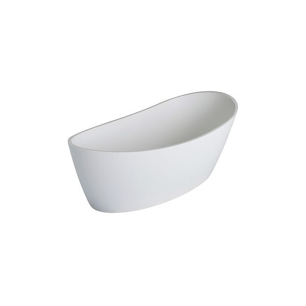 "Clarke CA5932FS Dune 59"" Solid Surface Soaking Bathtub for Freestanding Installations with Reversible Drain - Matte"