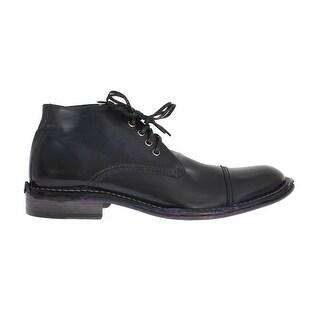 Dolce & Gabbana Black Leather Ankle Chukka Boots