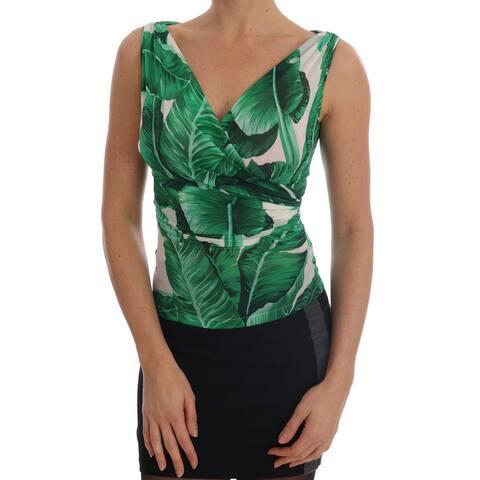 Dolce & Gabbana Banana Print Silk Cami Women's Top - it36-xs