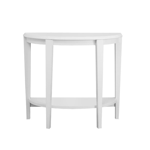 Monarch Specialties I 2451 36 Inch Wide Wood Hall Console Table White