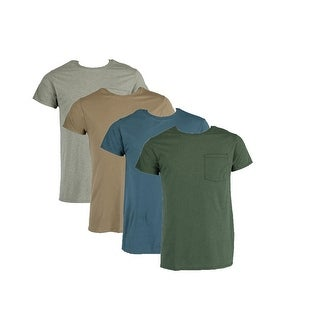 Fruit of the Loom Men's Big and Tall Pocket Tee Shirts (4 Pack)