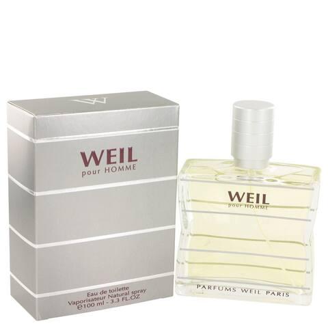 Weil Pour Homme by Weil Eau De Toilette Spray 3.4 oz
