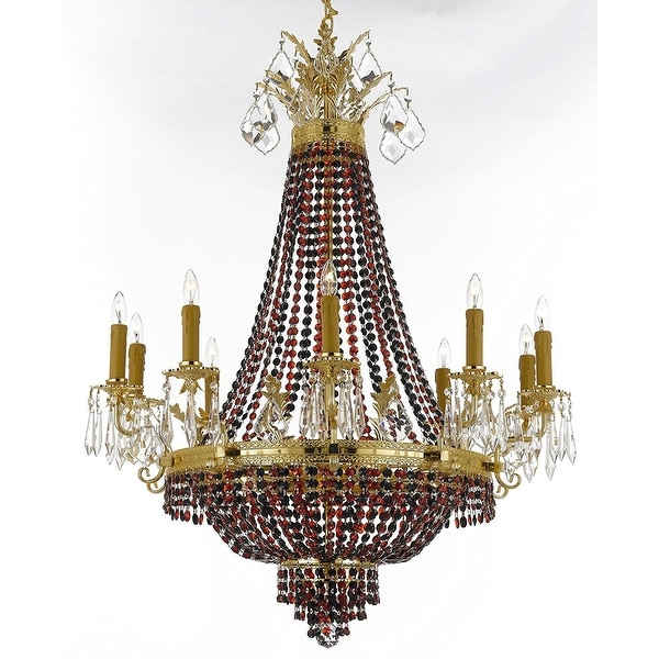 Inexpensive Red Chandelier: Shop Crystal Chandelier W/ Black & Red Crystals