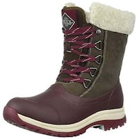 Muck Boot Women's Arctic Apres Brown/Cordovan Lace Mid Size 7 Winter Boot