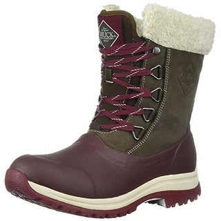 Muck Boot Women's Arctic Apres Brown/Cordovan Lace Mid Size 8 Winter Boot