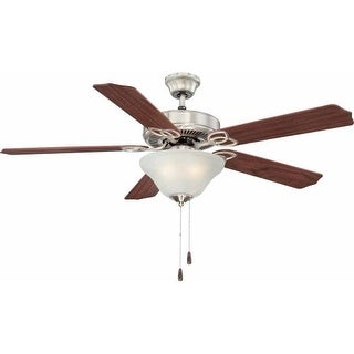 "Volume Lighting V6123 5 Blade 52"" Indoor Ceiling Fan with Alabaster Glass Light"