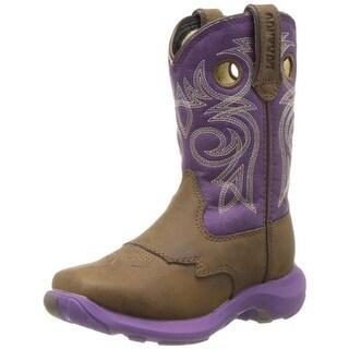 Durango Girls Head West Cowboy, Western Boots Colorblock Faux Leather