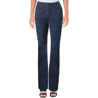 NYDJ Womens Samantha Straight Leg Jeans Velvet Slim