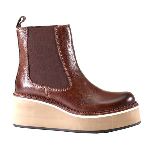 """Diba True She Nah Womens Boots Ankle Mid Heel 2-3"""" - Brown"""