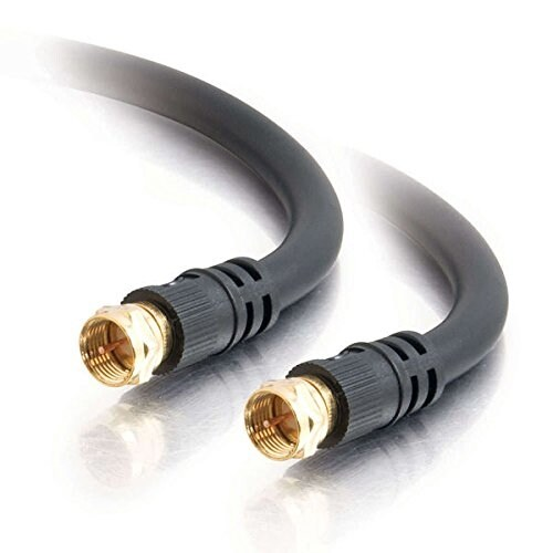 C2g 29133 12Ft Value Series F-Type Rg6 Coaxial Video Cable-Black
