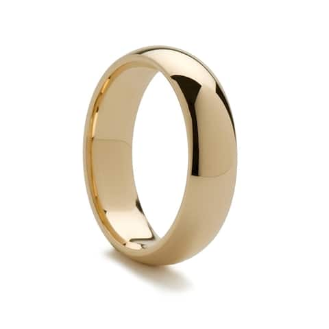 14k Yellow Gold Domed Ring with Polished Finish - 2mm