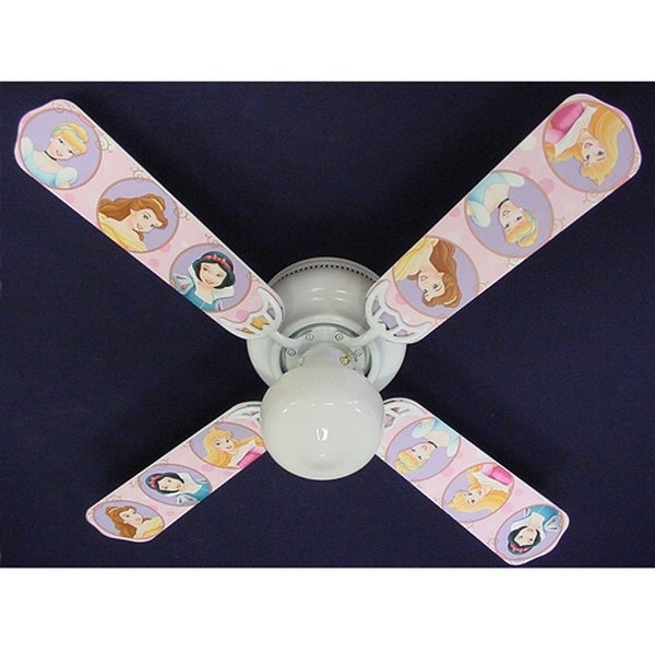 Disney's Pink Princess Print Blades 42in Ceiling Fan Light Kit - Multi