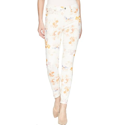 7 For All Mankind Women's Floral Printed Ankle Skinny Jeans, Loft Garden, 27