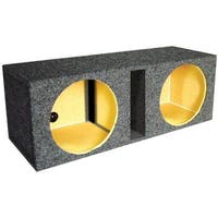 Qpower QBASS12 12 in. Dual Vented Slot Ported Empty Woofer Box