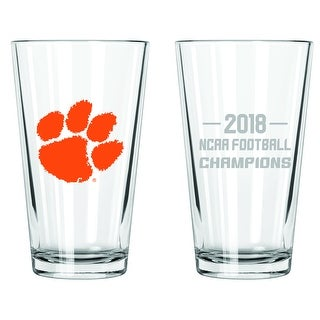 Clemson Tigers 2017 National Champions 17 oz Glass