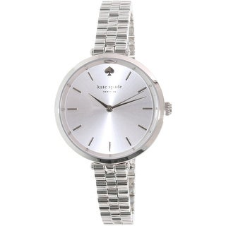 Kate Spade Women's Holland 1YRU0859 Silver Stainless-Steel Quartz Fashion Watch