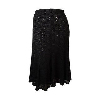Onyx Nite Women's Sequin Lace Trumpet Skirt - XS