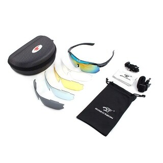ROBESBON Authorized Exercise Temple Demountable Lens Cycling Glasses Blue Set