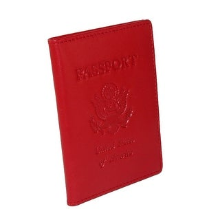 Winn International Leather with US Emblem Premium Passport Cover