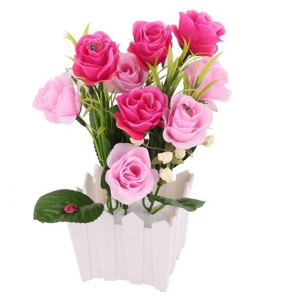 Home Wedding Festival Plastic Flowerpot Emulational Artificial Decorative Flower