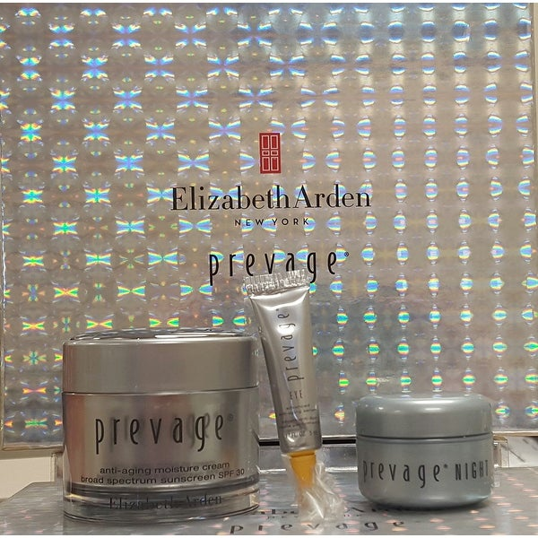 Elizabeth Arden PREVAGE Anti Aging Set: Moisture Cream, Night Anti-aging Restoraitve Cream, Eye Advanced Anti-aging Serum