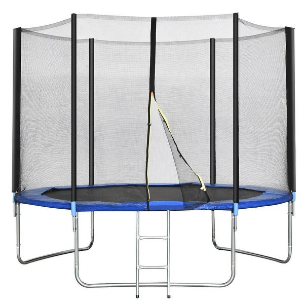 New 14ft Trampoline Combo Bounce Jump Safety Enclosure Net: Shop Gymax 10 FT Trampoline Combo Bounce Jump Safety