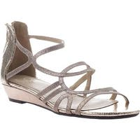 Madeline Women's Sizzle Strappy Sandal Pewter Synthetic